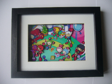 Bomberman Arcade Art  3D Diorama Shadow Box